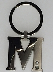 Two-Tone Initial Key Tag - M - 1/Poly Bag